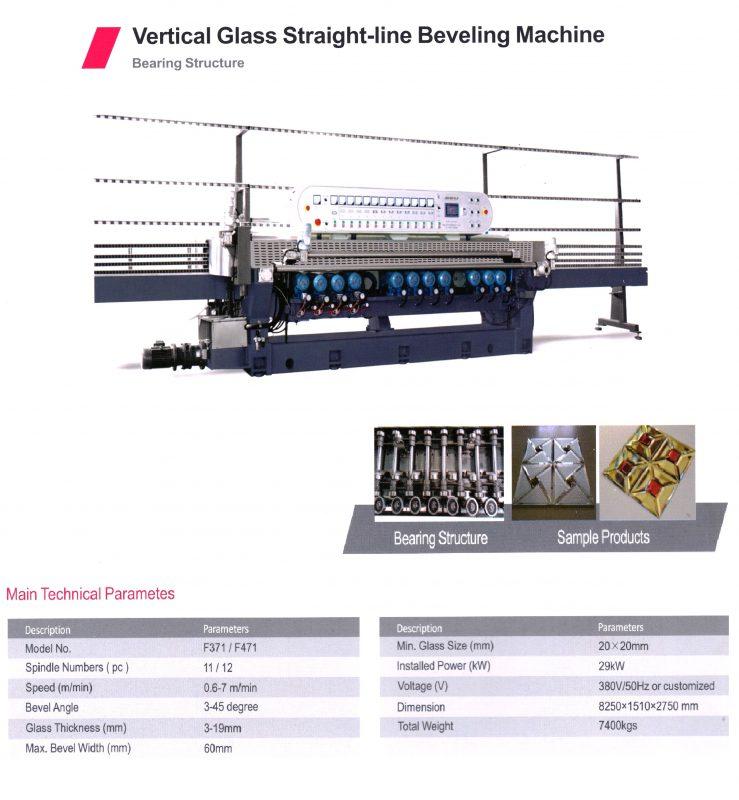 GLASS BEVELING MACHINE